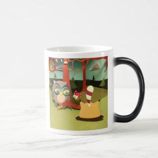 The Little Star Morphing Upside Down Raccoon Mug