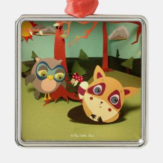 The Little Star Mr. Raccoon Shadow Box Ornament