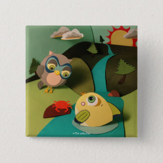 The Little Star Owl & Fish Button