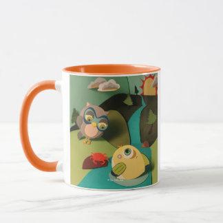 The Little Star Owl & Fish Ringer Mug