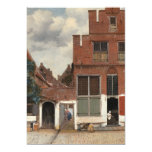 The Little Street by Johannes Vermeer 5x7 Paper Invitation Card