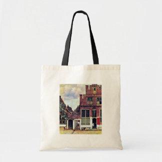 The Little Street By Johannes Vermeer Tote Bags