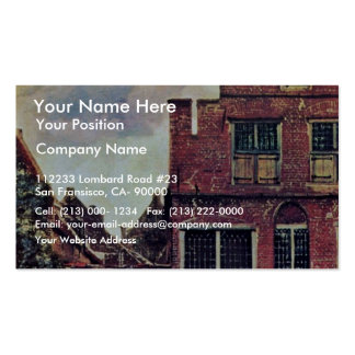 The Little Street,  By Johannes Vermeer Business Card Template