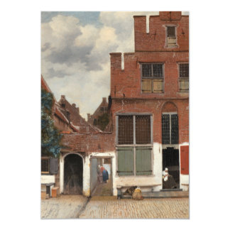 The Little Street by Johannes Vermeer Card