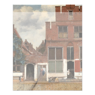 The Little Street by Johannes Vermeer Personalized Flyer