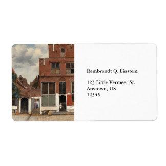 The Little Street by Johannes Vermeer Label