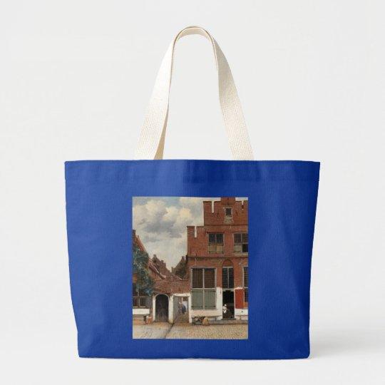 The Little Street by Johannes Vermeer Large Tote Bag