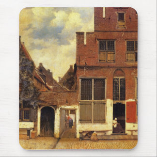 The little street by Johannes Vermeer Mouse Pad