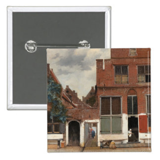 The Little Street by Johannes Vermeer Pinback Button