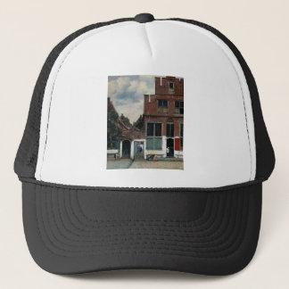 The Little Street by Johannes Vermeer Trucker Hat