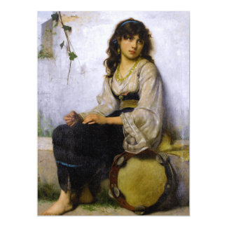 The Little Tambourine Girl ~ Card