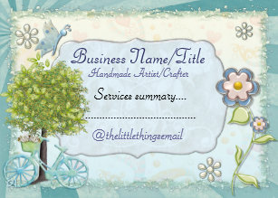 Craft business cards zazzle the little things handmade custom crafts business card colourmoves