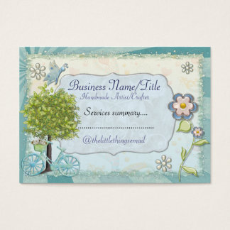 The Little Things HANDMADE CUSTOM CRAFTS Business Card