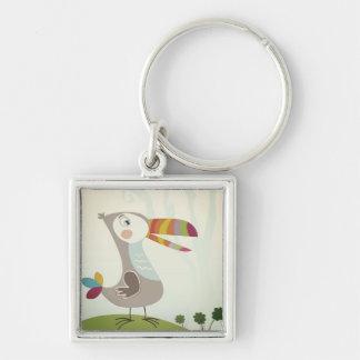 The little Toucan cartoon button Keychain