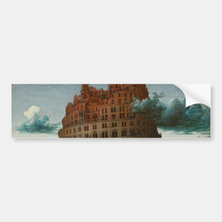 The Little Tower of Babel by Pieter Bruegel Bumper Sticker
