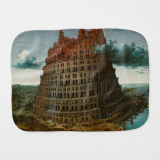 The Little Tower of Babel by Pieter Bruegel Burp Cloth