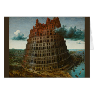 The Little Tower of Babel by Pieter Bruegel Greeting Cards