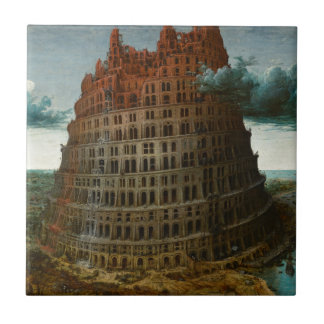 The Little Tower of Babel by Pieter Bruegel Ceramic Tile