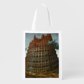 The Little Tower of Babel by Pieter Bruegel Grocery Bag