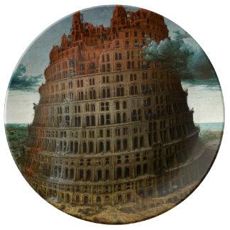 The Little Tower of Babel by Pieter Bruegel Porcelain Plate