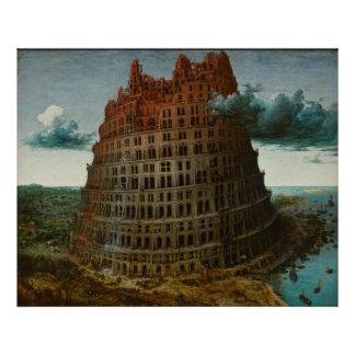 The Little Tower of Babel by Pieter Bruegel Poster