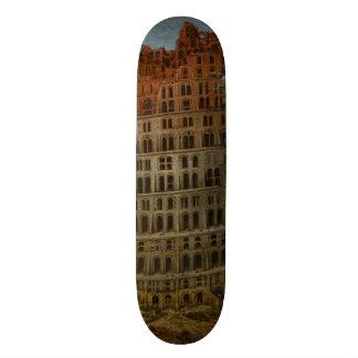 The Little Tower of Babel by Pieter Bruegel Skateboard Deck