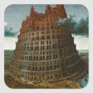 The Little Tower of Babel by Pieter Bruegel Square Sticker