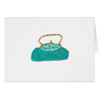 The little turquoise purse card