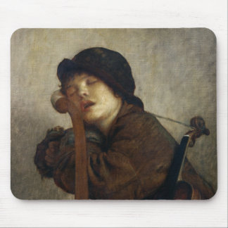 The Little Violinist Sleeping, 1883 Mouse Pad