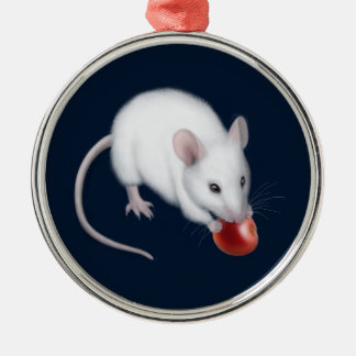 The Little White Mouse Ornament