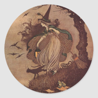 The Little Witch Classic Round Sticker