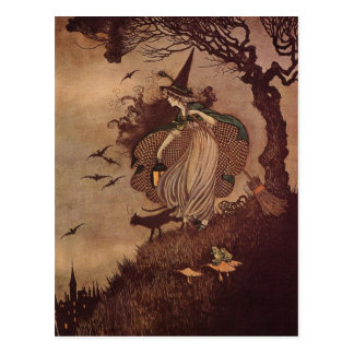 The Little Witch Postcard