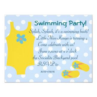 The Little Yellow Swimsiut Card