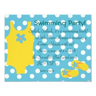 "The Little Yellow Swimsiut 4.25"" X 5.5"" Invitation Card"