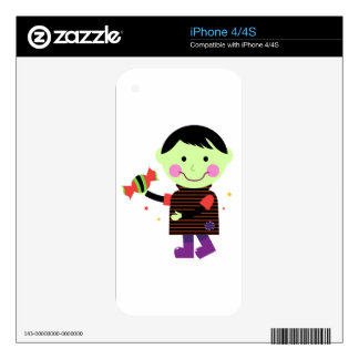 The little Zombie with sweet Sugar Decals For The iPhone 4S