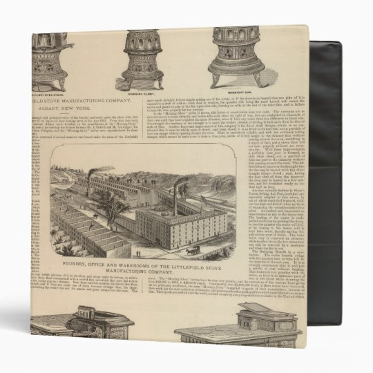 The Littlefield Stove Manufacturing Company 3 Ring Binder