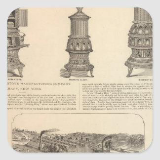 The Littlefield Stove Manufacturing Company Square Stickers