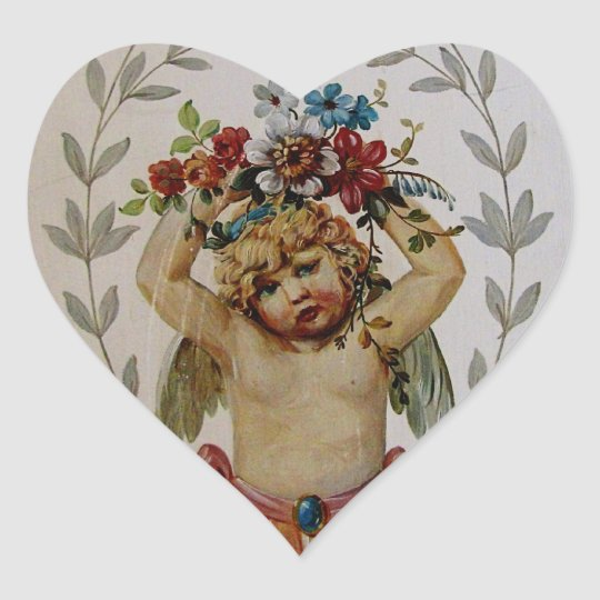 The Littlest Cherub Heart Sticker