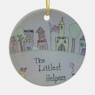 The Littlest Helpers is going Viral! Double-Sided Ceramic Round Christmas Ornament
