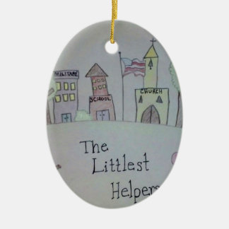 The Littlest Helpers is going Viral! Double-Sided Oval Ceramic Christmas Ornament