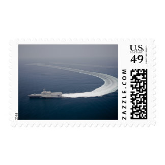 The littoral combat ship Independence 4 Postage Stamp