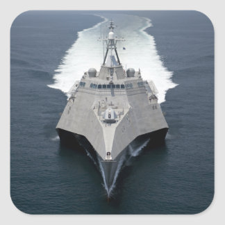 The littoral combat ship Independence Square Sticker