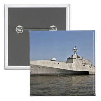 The littoral combat ship Independence underway Pinback Button