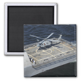The littoral combat ship USS Freedom 2 Inch Square Magnet