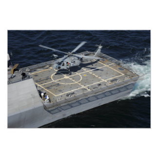 The littoral combat ship USS Freedom Poster