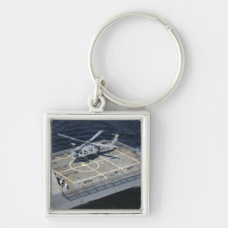 The littoral combat ship USS Freedom Silver-Colored Square Keychain