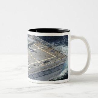 The littoral combat ship USS Freedom Two-Tone Coffee Mug