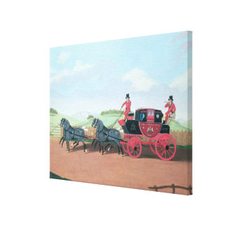 The Liverpool and London Royal Mail Coach, 1812 Canvas Print