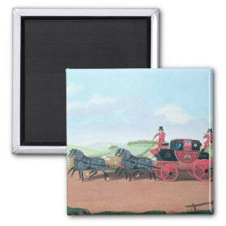 The Liverpool and London Royal Mail Coach, 1812 2 Inch Square Magnet