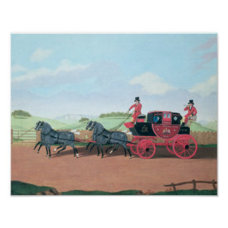 The Liverpool and London Royal Mail Coach, 1812 Poster